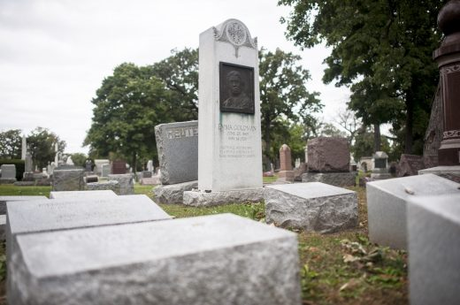 The tombstone of Emma Goldman, one of the most famous anarchists of the 20th century. | William Camargo/Staff Photographer