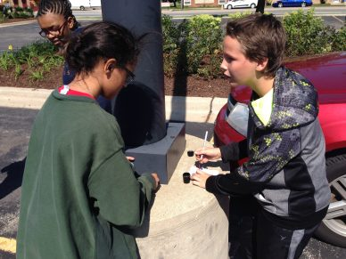 Ariel Smith and Colin Daly geocaching. | Courtesy Richard Hearn