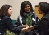 (Left to Right) Carey Carlock, CEO Riveredge Hospital, Michelle Vanderlaan, Sugarcup Trading Co., Shenita Muse, Marketing Manager, Living Word Christian Center