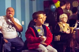 """Jack Sandusky enjoys ice cream before the screening of """"Sinful Sweets,"""" at The Brown Cow Ice Cream Parlor, on Nov. 13. 