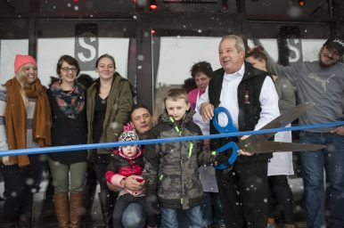 A ribbon cutting was held outside the new Scratch Deli in Forest Park. The grand opening celebration on Saturday was presided by Forest Park Mayor Tony Calderone. | William Camargo/Staff Photographer