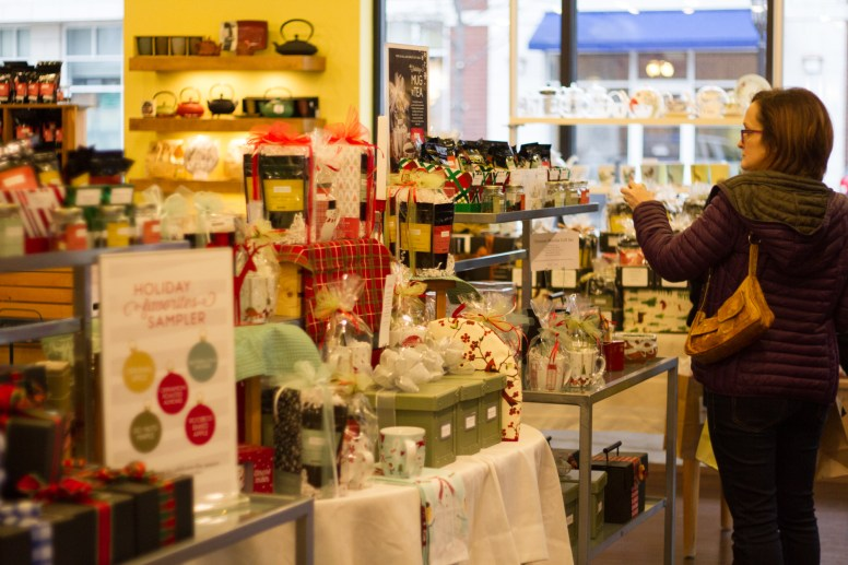 Todd & Holland Tea Merchants participated in Small Busniess Saturday in Forest Park by offering discounts to shoppers, along with free tea and cake. | Stacey Rupolo/Contributor