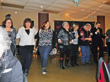 Living it up on Dec. 31 at the community center. | JACKIE SCHULZ/Contributor