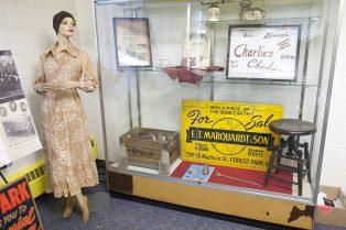 A display at First United Church of Christ, the first dedicated home for the Forest Park Historical Society.   File photo