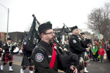 Musicians play bagpipes in kilts. | William Camargo/Staff Photographer