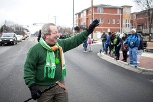 Forest Park Mayor Tony McCalderone waves to viewers. | William Camargo/Staff Photographer