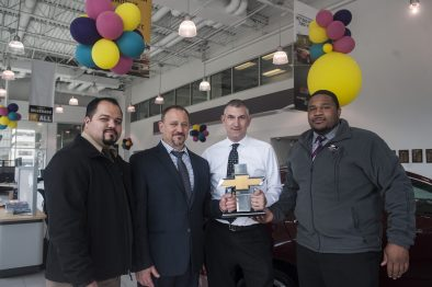 From left: Jesus Castellanos, Leo Sfikas, Dave Wagge and Leighton Clemons, managers at Currie Motors in Forest Park. | William Camargo/Staff Photographer