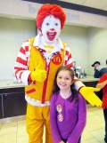 Valda Vitton, third grader, and Ronald.