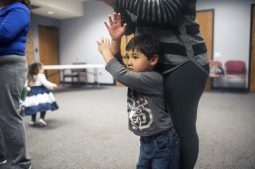 Avery Tan learns some dance steps.   William Camargo/Staff Photographer