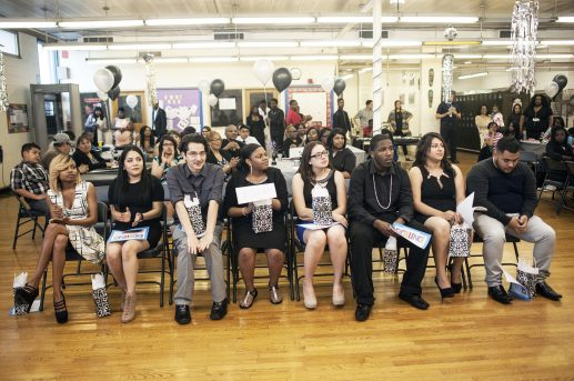The class of the Proviso East Evening School await their graduation celebration on May 19. Students accepted to this program have made it a long way to finish and catch up to get their high school diploma. | William Camargo/Staff Photographer