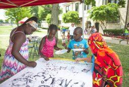 Children participate in the Summer Block Party activities. | WILLIAM CAMARGO/Staff Photographer