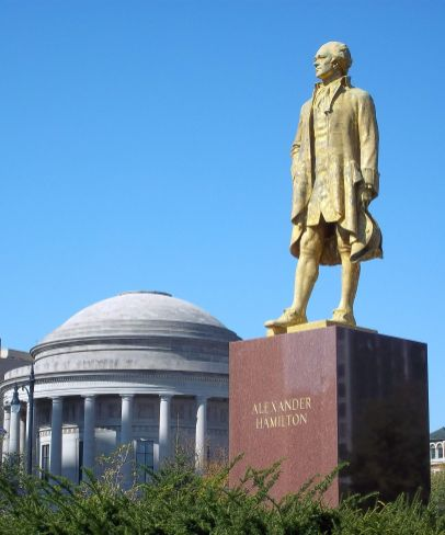 Alexander Hamilton statue in Lincoln Park will get a new look in time for the musical's opening.   Photo by AlanScott Walker (creativecommons.org/licenses/by-sa/3.0/)
