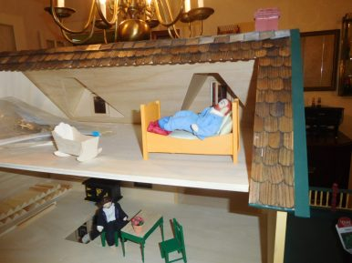 Rosalyn Leehey's doll house makes allusions to great works of art by Van Gogh and Grant Wood. | JACKIE SCHULZ/Contributor