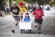 Hash House Harriers, takes the lead in their race. | William Camargo/Staff Photographer