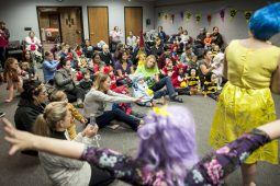 Kids and parents crowded into the Austin Room Friday to celebrate Halloween. | William Camargo/Staff Photographer