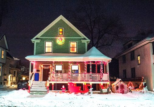 The Nero family home on Circle Avenue won the park district's Holiday Home Makeover Contest.   William Camargo/Staff Photographer