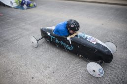 Miles Smith takes an early lead during the Soap Box Derby on Saturday, June 4.   File photo