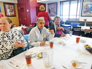 Patrons enjoy their meal at Pearl's Place. | JACKIE SCHULZ/Contributor