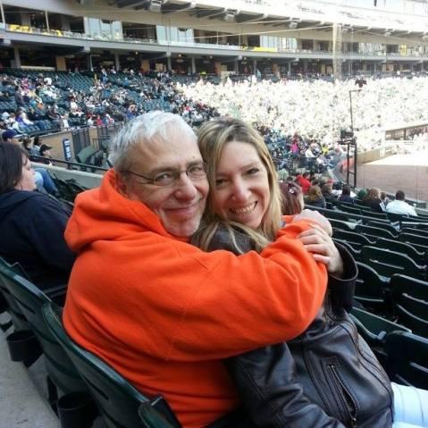 Marty Sorice and his wife take a ballpark break. | Courtesy Facebook