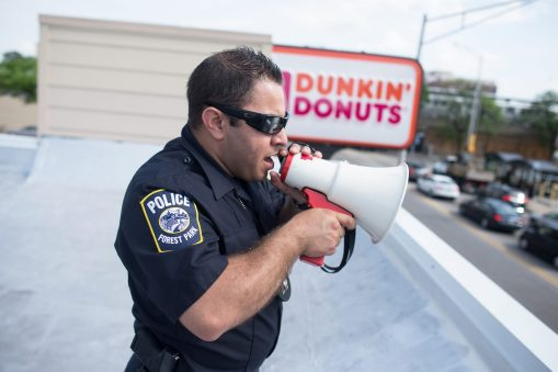 Dunkin' Donuts stakeout