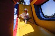Grace Tangorra enjoys the slide. | William Camargo/Staff Photographer
