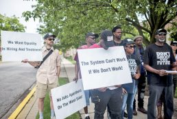 Black Workers Matter along with other organizations around Forest Park and Oak Park joined forces to rally at Forest Park Village Hall. | William Camargo/Staff Photographer