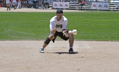 Snappers Jim Decanpes scoops up a grounder. | Alexa Rogals/Staff Photographer