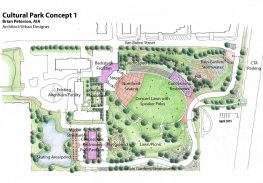 The Ad Hoc Committee on Cultural Park released its findings on Monday, including three possible configurations for the park. | Courtesy Frank DiFebo