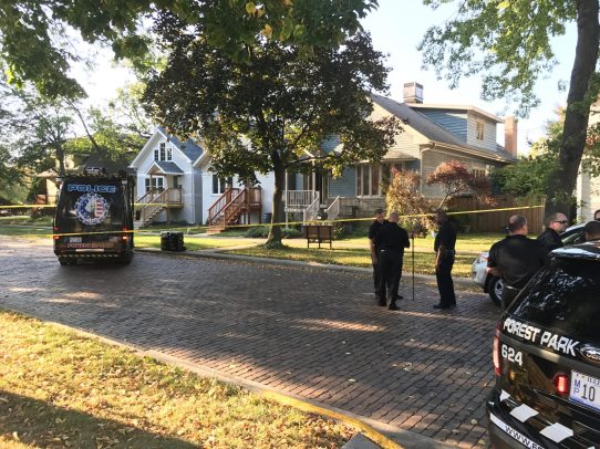 Police use caution tape to cordon off a home on the 7700 block of Adams Street on Sept. 20. | MICHAEL ROMAIN/Staff