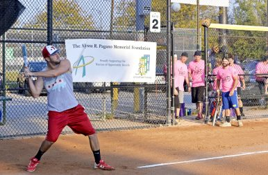A player from Pitches Be Crazy looks to hit the ball on Saturday, Sept. 23, during at game against Bucky's Bunch at the annual OK Classic softball tournament at the Park District of Forest Park. | Alexa Rogals/Staff Photographer