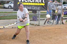 A participant hits the ball. | Alexa Rogals/Staff Photographer
