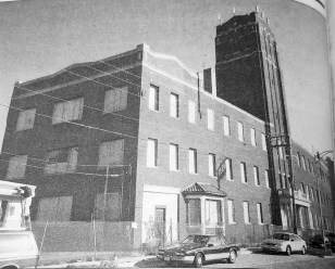 Roos building before demolition. | Courtesy Forest Park Historical Society