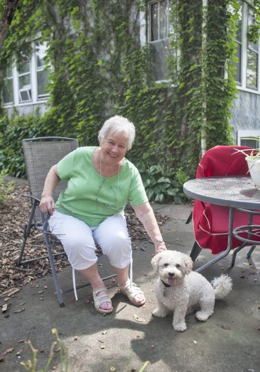 Jackie Schulz with her dog, Barkley. | File photo