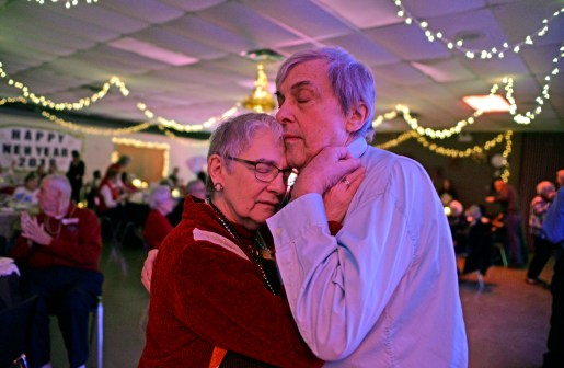 Chicago couple Joan and Ron Peterson, dance together.   Alexa Rogals/Staff Photographer