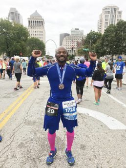 Aaron Peppers runs St. Louis, one of many recent marathons he's completed. | Submitted photo