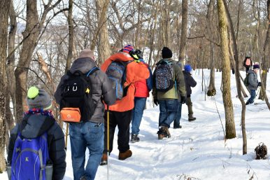 Pack 109 hiking at Starved Rock. | Courtesy Jill Wagner