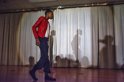 A student performs at Proviso Math and Science Academy on Feb. 20. | Sebastian Hidalgo/Contributor
