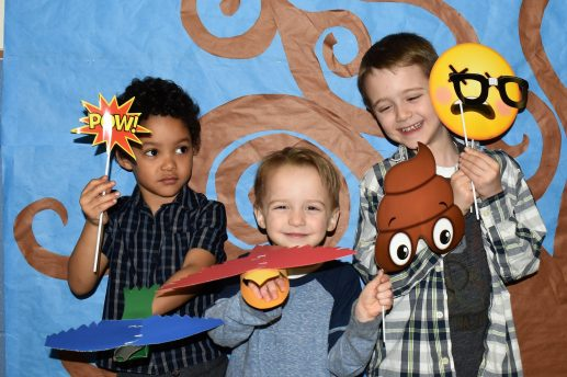 Visiting the photo booth at the South PTO Spring Fling at Field Stevenson was one of the activities from the night. | Courtesy South PTO