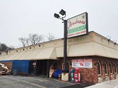 Crews have begun stripping Andrea's Restaurant, 7427 Roosevelt Road, to the studs in order to prepare it for a complete rebuild. The restaurant was gutted by fire on March 25. (Photo by Bob Uphues | Staff)