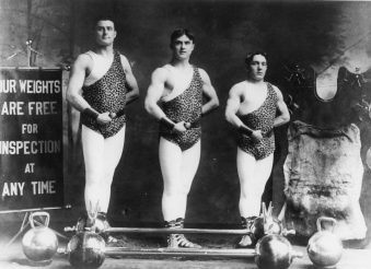 Glory Days: Arthur, Joe and Max Dierickx during their heyday with the Hagenbeck-Wallace Circus before the train wreck that killed Arthur and Max. | Submitted photo