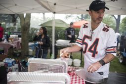 Grillers from JimBoy's Backyard BBQ serve up samples to attendees. | Alexa Rogals/Staff Photographer