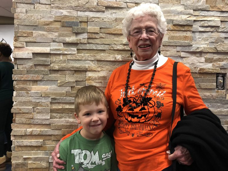 """Doris Balfanz (Great-Grandmother) and Anthony """"AJ"""" Scolaro (Great-Grandson). 