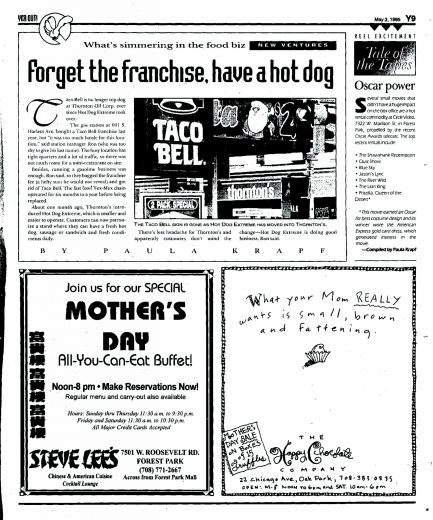 """Taco Bell franchise didn't last long at this Thornton's, sighting """"tight quarters and a lot of traffic."""" The smaller, Hot Dog Extreme was less headache and the customers didn't seem to mind the change."""