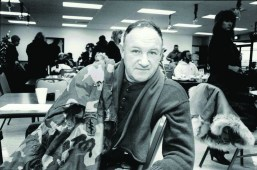 """Film superstar Gene Hackman in Forest Park to shoot """"The Package"""" in December of 1988."""