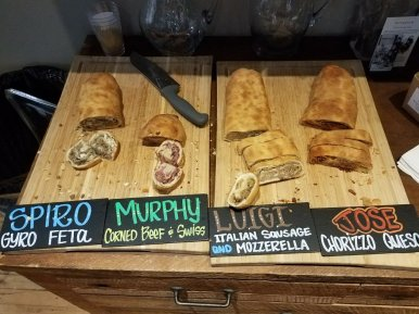 Urban Pioneer has rolled out several artisan bread rolls stuffed with fillings ranging from sausage and mozzarella to corned beef and Swiss cheese to gyro and feta at twice-monthly, pop-up market events. | Courtesy Urban Pioneer Group