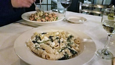 On my last visit to Jim and Pete's I selected the giant fresh rigatoni with ricotta, spinach and pinenuts.