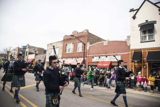 The Doonaree Pipe Band performs during the annual Forest Park St. Patrick's Day Parade on Madison Street throughout downtown Forest Park. | Alexa Rogals/Staff Photographer