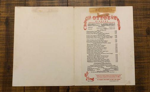 1960's Otto's menu.