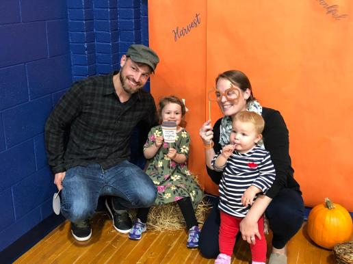 Family fun at Grant-White's first annual fall fest on Oct. 17. The event was sponsored by District 91's Northside Parent Teacher Council.