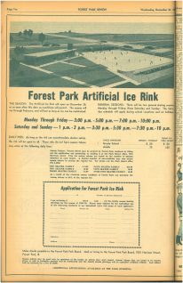 Application for the ice rink passes were featured here with the rate of for a one skater family, but 50% off for Forest Park families as the season started late. According to the inflation calculator that would be 1 in 2019 dollars.